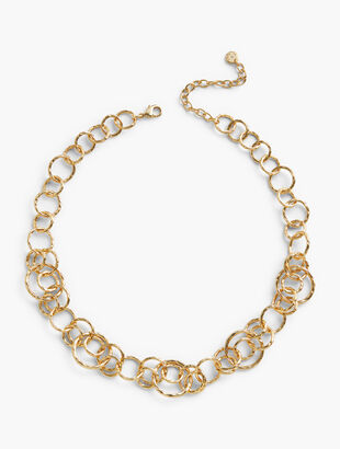 Hammered Chain-Link Necklace