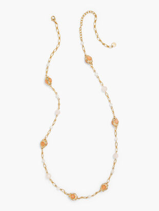 Light Pink Layering Necklace