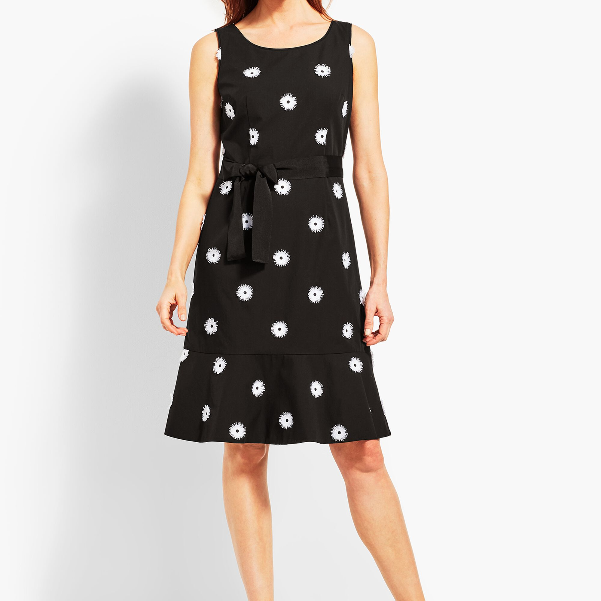 Flower Applique Fit And Flare Dress Talbots