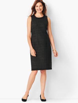 Textured Tweed Sheath Dress