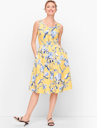 Toile Fit & Flare Dress