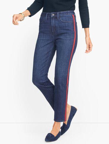 Modern Ankle Jeans - Side Ribbon Trim