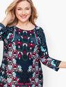 Knit Jersey Scroll Print Dress