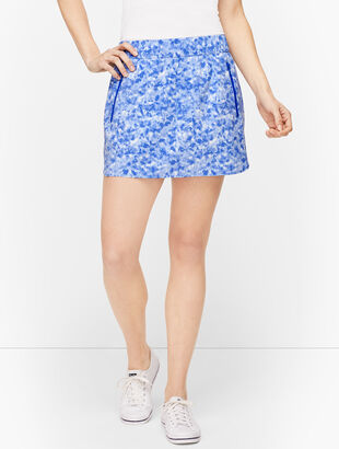 Tie Dye Lightweight Stretch Woven Skort