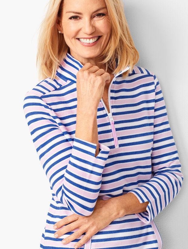 Stripe Half-Zip Pullover