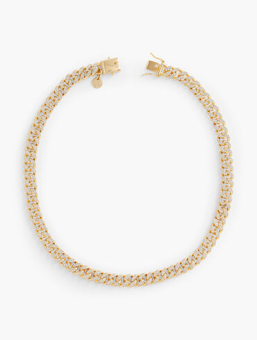 Modern Pavé Curb Chain Necklace
