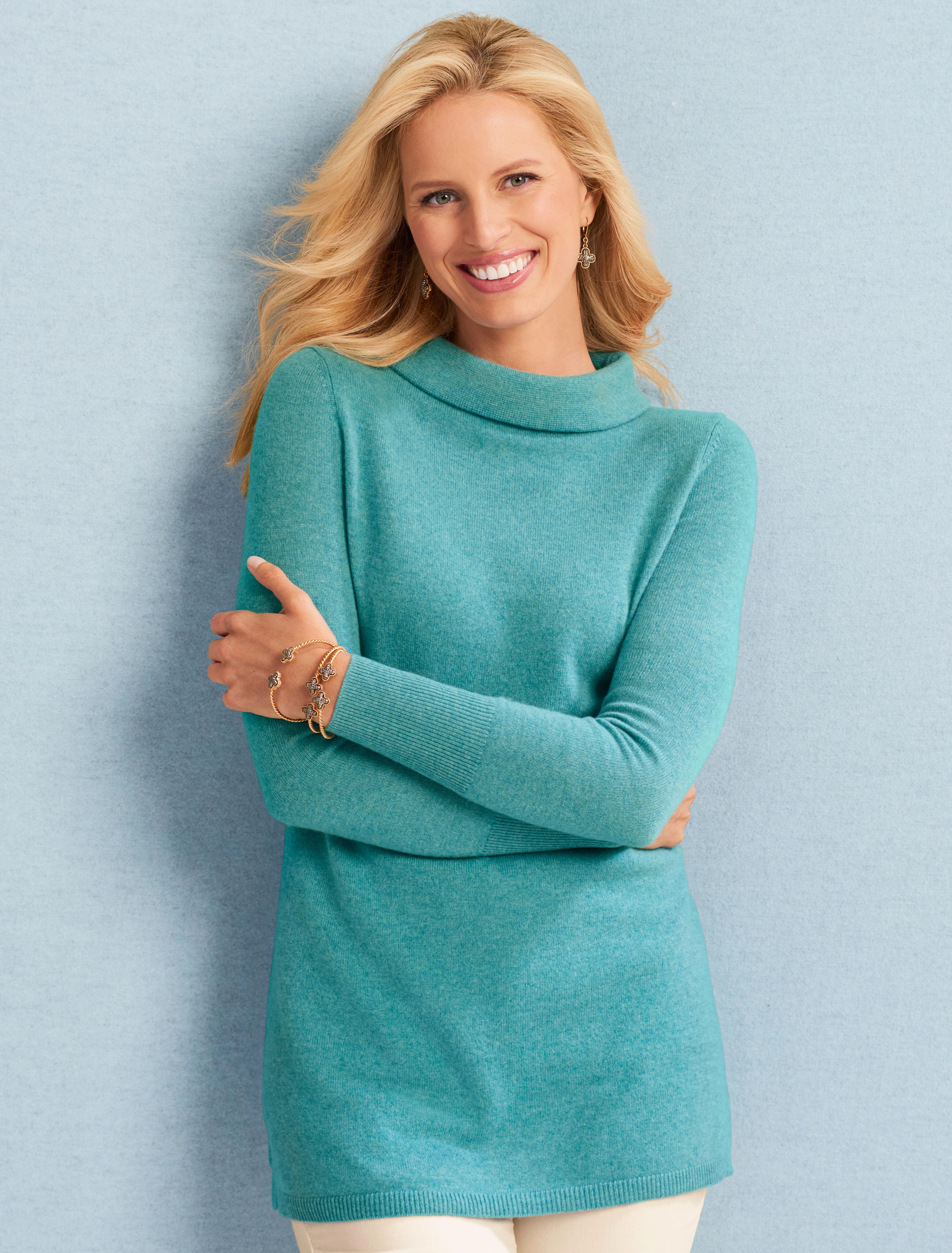 Sabrina Cashmere Sweater BLACK M Talbots
