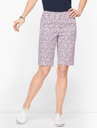 Perfect Shorts - Bermuda Length - Geranium Print
