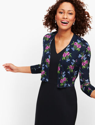 Painterly Floral Dress Shrug