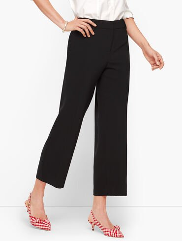 Straight Leg Crop Pants - Crepe