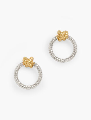 Twisted Knot Hoop Earrings