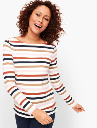 Authentic Talbots Tee - Rose Stripe