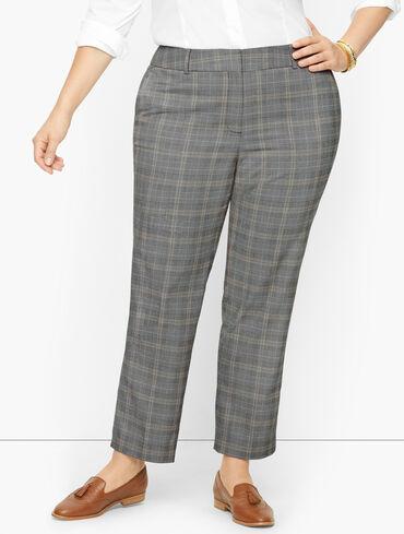 Plus Size Exclusive Talbots Hampshire Ankle Pants - Glen Plaid - Curvy Fit