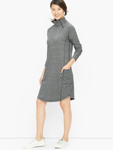 Asymmetrical Zip Terry Dress - Eventide