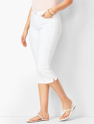Pedal Pushers - Curvy Fit - White