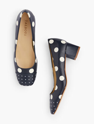 Claire Square Toe Pumps - Dot
