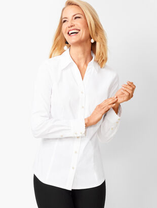 RSVP Scallop Button-Front Shirt
