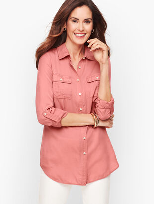 Tencel Button Front Shirt