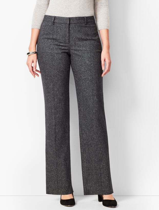 Wide-Leg Windsor Donegal Pants  - Curvy Fit