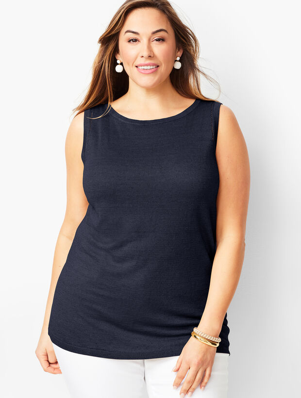 Plus Size Linen Shell