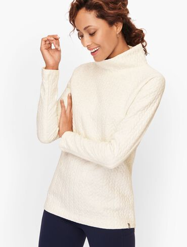 Quilted Shimmer Pullover