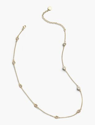 Delicate Glass Necklace - 14K Gold Plated Sterling Silver