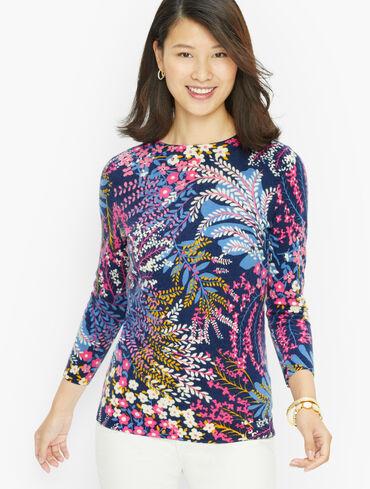 Audrey Cashmere Sweater - Popping Garden