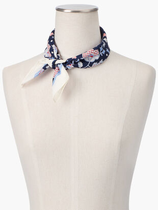 Climbing Floral Square Scarf