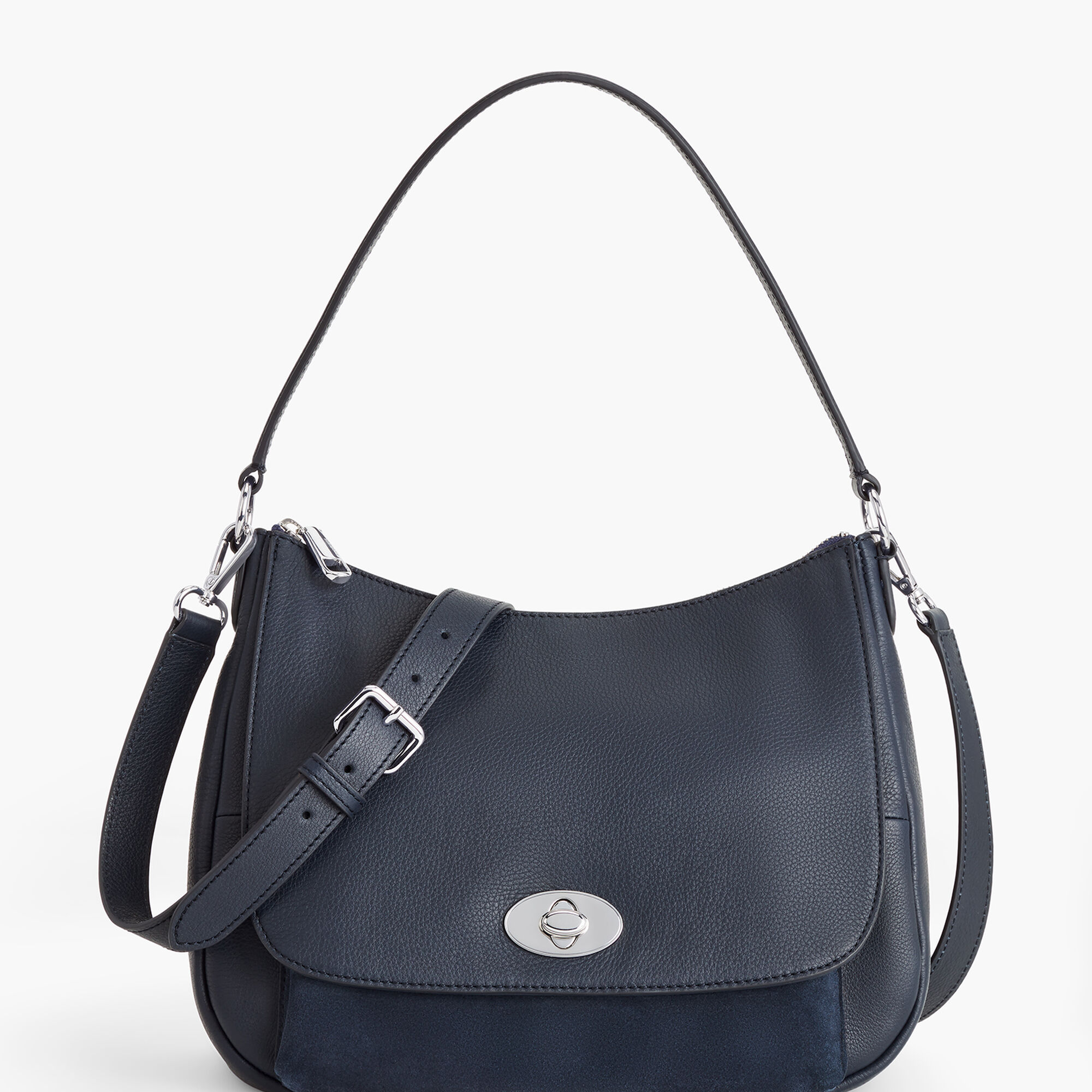 Soft Pebbled Leather Hobo Bag Talbots