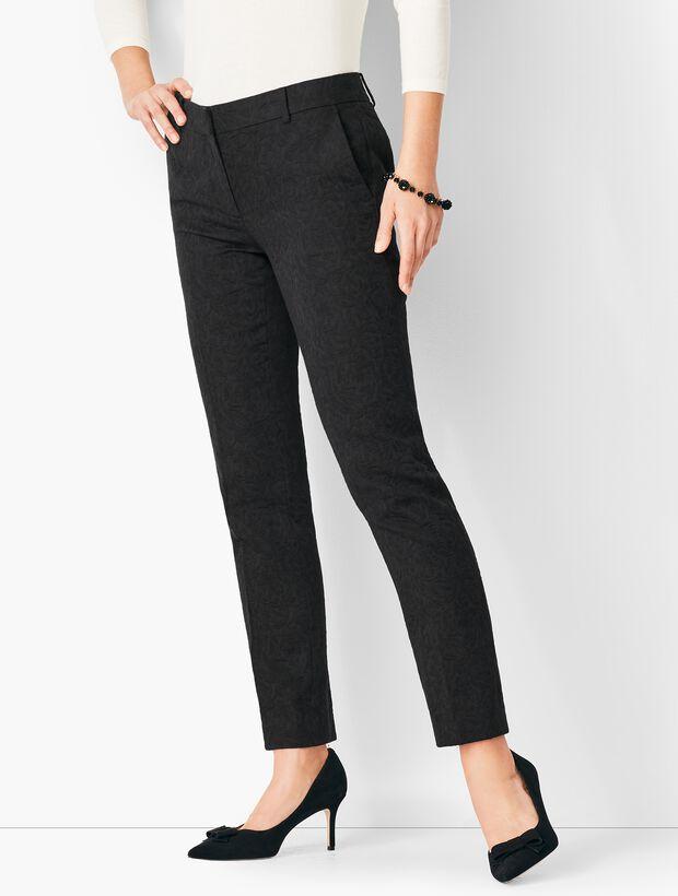 Tailored Jacquard Slim Ankle Pants