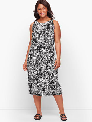 Sleeveless Midi Dress - Paisley