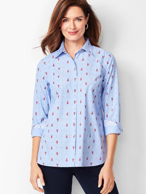 Classic Cotton Shirt - Lobster Print