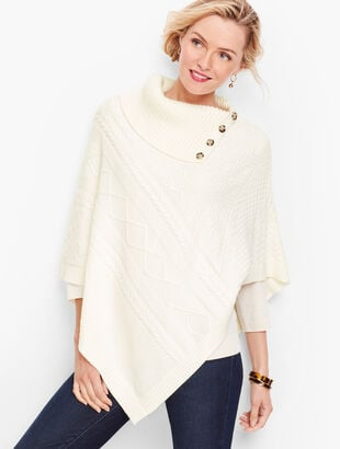 Split Neck Triangle Poncho