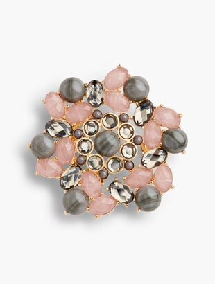 Pink & Neutral Brooch