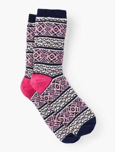 Fair Isle Pop Trouser Socks