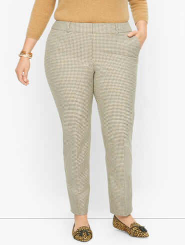 Plus Size Exclusive Talbots Hampshire Ankle Pants - Mini Check
