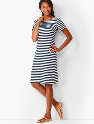 Scallop Knit Jersey Dress