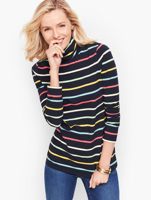 Long Sleeve Turtleneck - Lucia Stripe