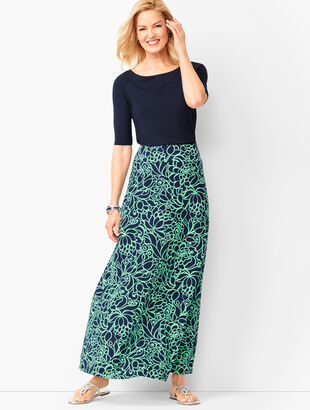 Bi-Color Bloom Maxi Skirt