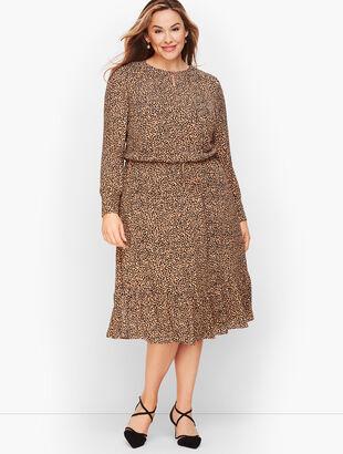 Soft Leopard Print Fit & Flare Dress