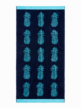 Poolside Pineapple Beach Towel
