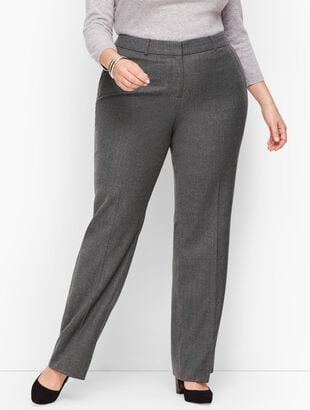 Luxe Flannel Windsor Pants - Curvy Fit