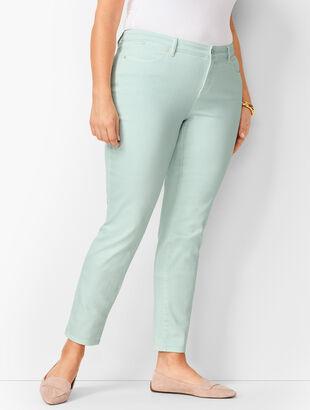 Slim Ankle Jeans - Light Cool Mint