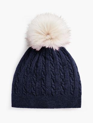 Cable Stitch Pompom Hat