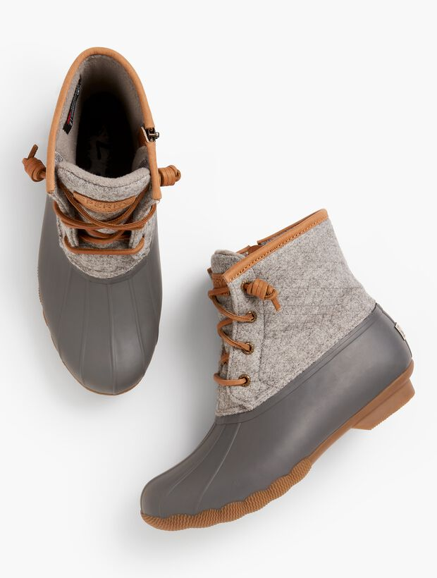 Sperry(R) Saltwater Wool-Emboss Rubber Boots