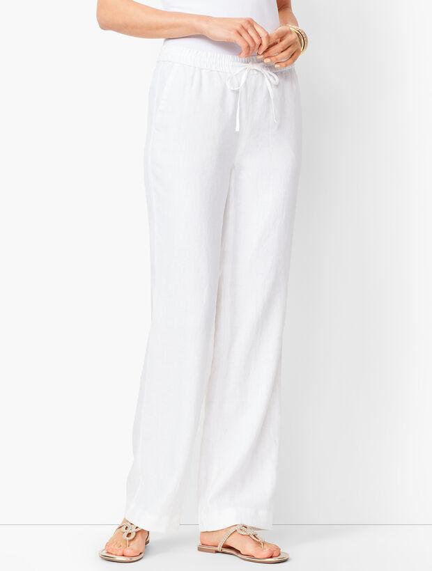Washed Linen Wide-Leg Pants