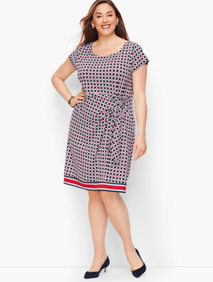 Ruched Jersey Sheath Dress