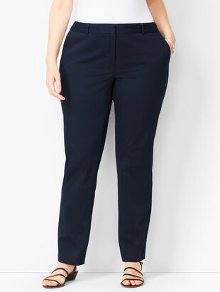 Monterey Cotton Straight-Leg Pants - Curvy Fit