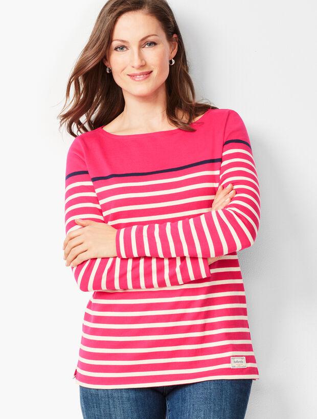 Authentic Talbots Tee - Tri-Color Stripe