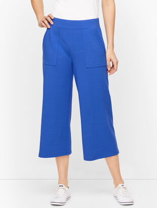UPF 50+ Slub Terry Wide Leg Crops - Colors